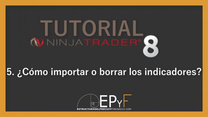 Tutorial 5 NinjaTrader 8 de Sistema EPyF: ¿Cómo importar o borrar los indicadores?