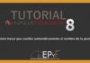 Tutorial 7 NinjaTrader 8 de Sistema EPyF: ¿Cómo hacer que cambie automáticamente el nombre de la pestaña?
