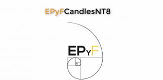 EPyFCandles indicador NinjaTrader de tipo de vela de estructura del precio y fibonacci (Sistema EPyF)
