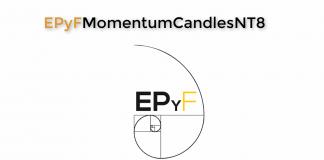 EPyF Momentum Candles para NinjaTrader 8: velas con clímax de estructura del precio y fibonacci (Sistema EPyF)