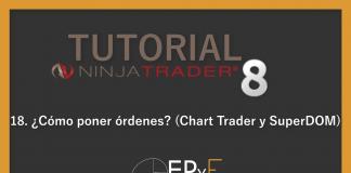 Tutorial 18 NinjaTrader 8 de Sistema EPyF: ¿Cómo poner órdenes? (Chart Trader y SuperDOM)
